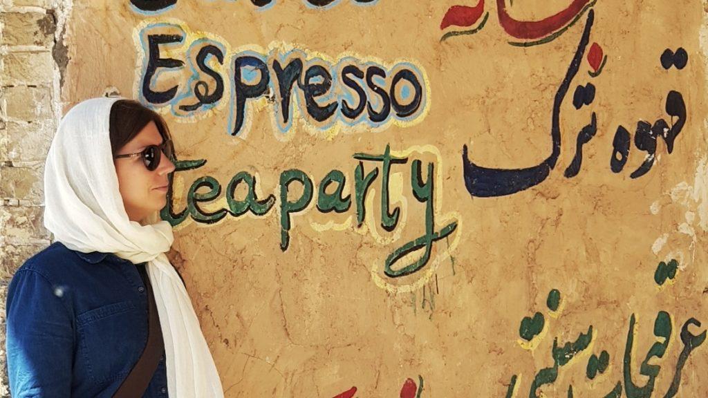 Graffiti in Yazd