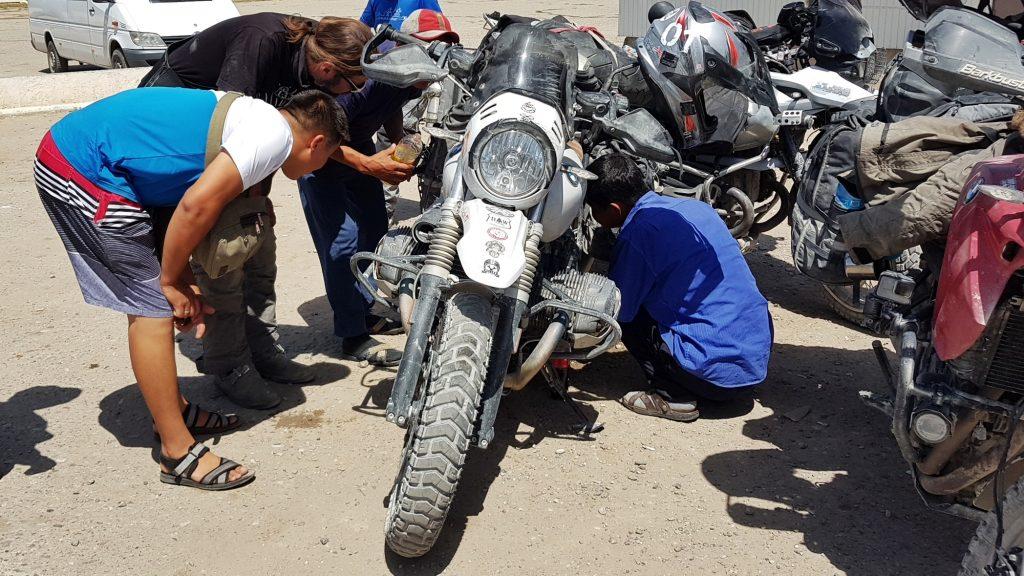 Reifenreperatur in Baetov