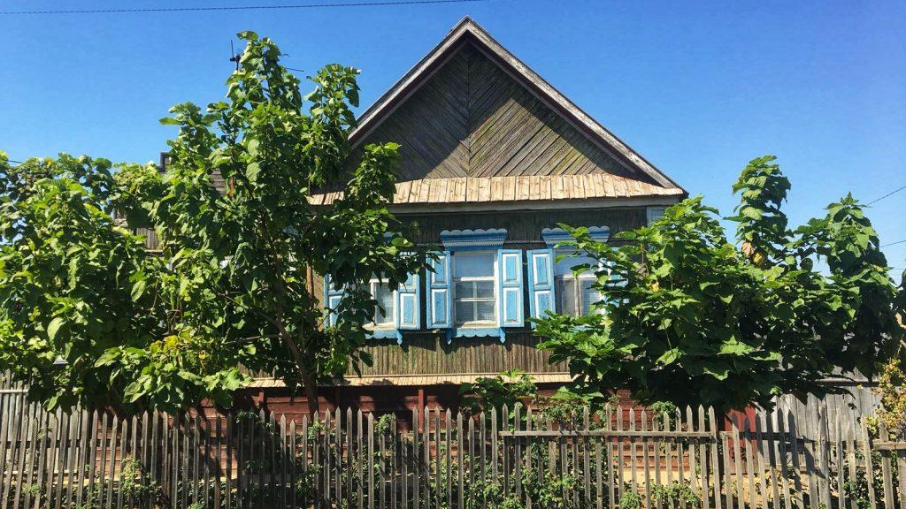 Altes russisches Holzhaus