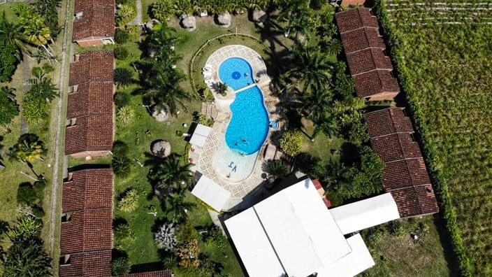 Drohnen Aufnahme des Hotels